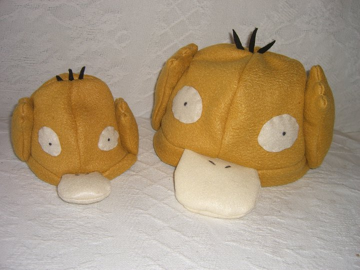 psyduck and baby psyduck hats