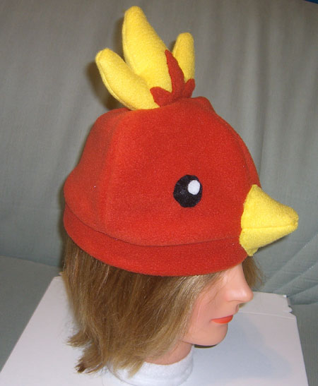 Torchic hat side view